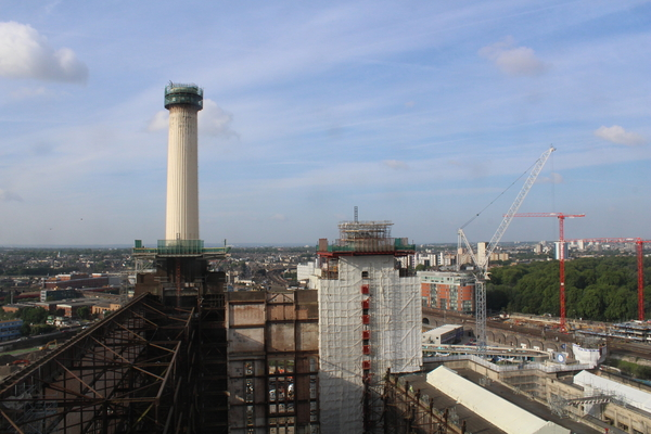 Iconic chimney brought back to Battersea Power Station