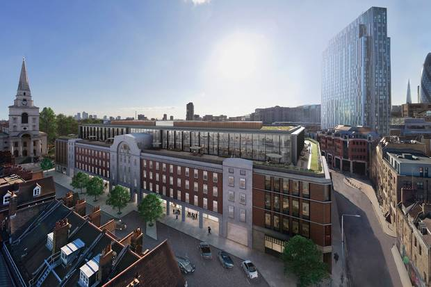 Redevelopment to begin on London Fruit & Wool Exchange building