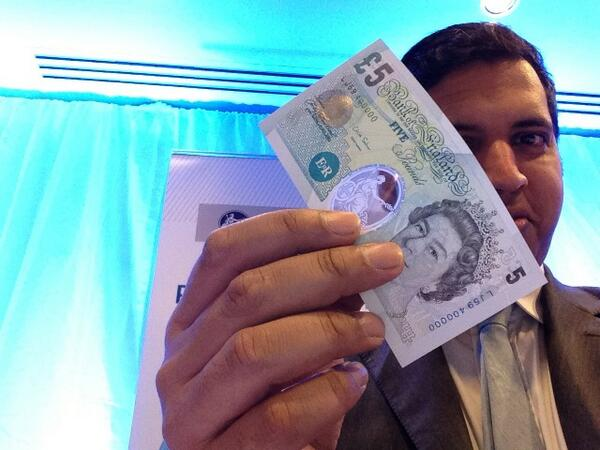 Bank of England reveals new plastic banknotes for 2016