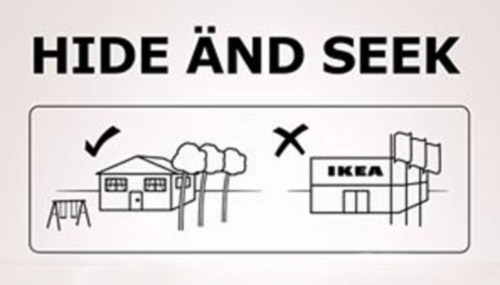 IKEA bans hide-and-seek in stores