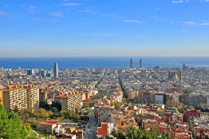 barcelona-spain-skyline