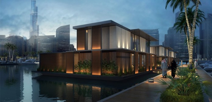 Fleet of floating homes set sail from finland to dubai - The floating homes of dubai luxury redefined ...